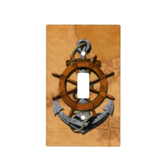 Nautical Ships Wheel And Anchor Switch Plate Cover