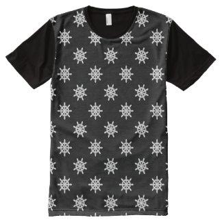 Nautical ship's wheel pattern All-Over-Print shirt