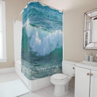 Nautical Shower Curtain, Waves sea shore ocean Shower Curtain