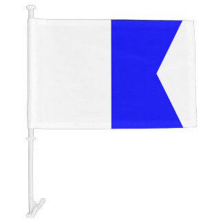 Nautical Signal Flag Alfa Letter A