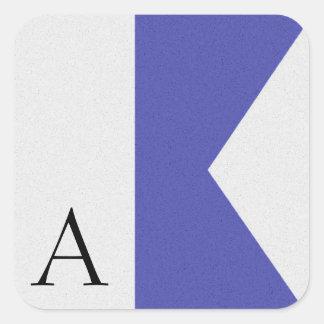 Nautical Signal Flag Alphabet Sticker