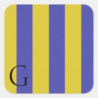 Nautical Signal Flag Alphabet Sticker G