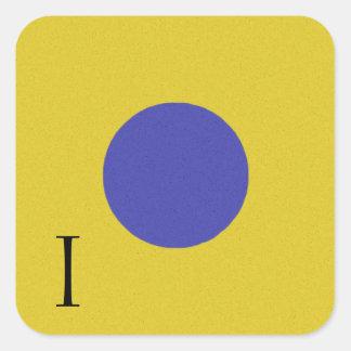 Nautical Signal Flag Alphabet Sticker I