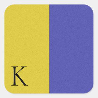 Nautical Signal Flag Alphabet Sticker K