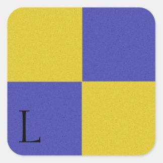 Nautical Signal Flag Alphabet Sticker L