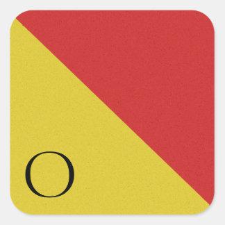 Nautical Signal Flag Alphabet Sticker O