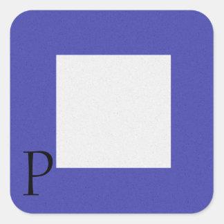Nautical Signal Flag Alphabet Sticker P