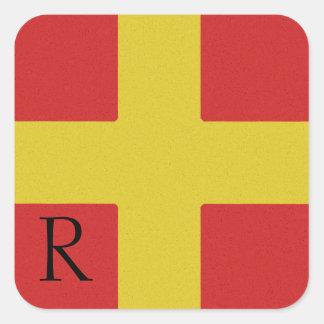 Nautical Signal Flag Alphabet Sticker R