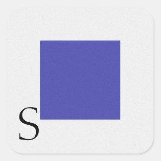 Nautical Signal Flag Alphabet Sticker S