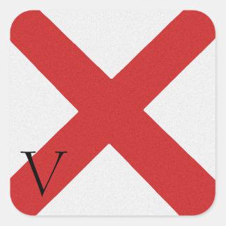Nautical Signal Flag Alphabet Sticker V