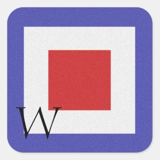 Nautical Signal Flag Alphabet Sticker W