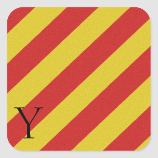 Nautical Signal Flag Alphabet Sticker Y