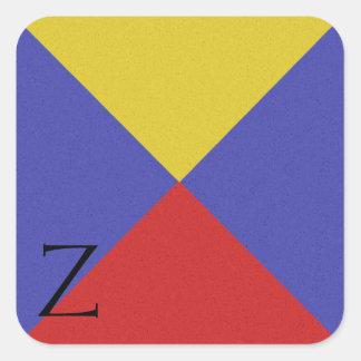 Nautical Signal Flag Alphabet Sticker Z