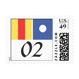 NAUTICAL SIGNAL FLAG NO. 2 POSTAGE