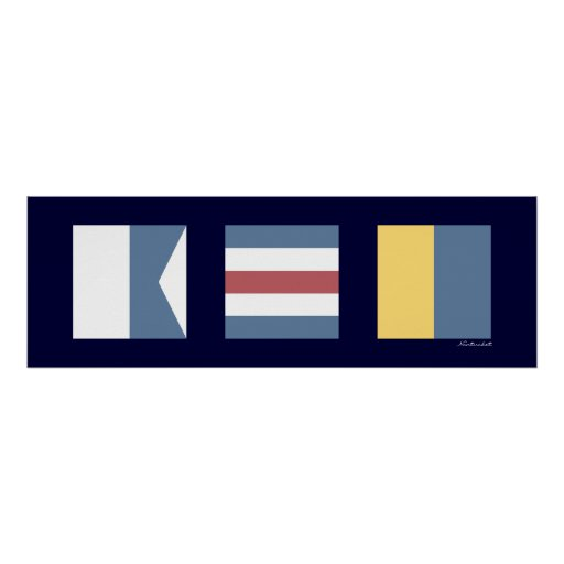Nautical Signal Flags ACK Nantucket Print