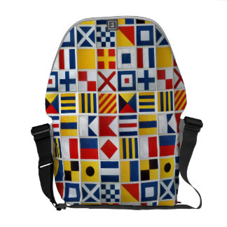 Nautical Signal Flags Courier Bag