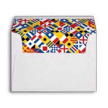 Nautical Signal Flags Pattern Envelope