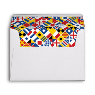 Nautical Signal Flags Pattern Envelope