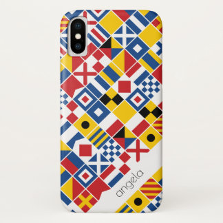 Nautical Signal Flags Pattern iPhone X Case