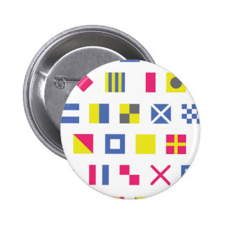 Nautical Signal Flags Pinback Button