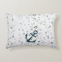 Nautical Sinking Anchor Decorative Pillow