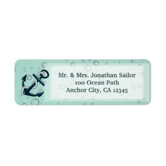 Nautical Sinking Anchor Personalized Return Address Label