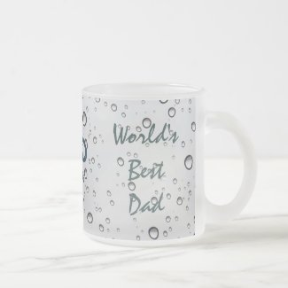 Nautical Sinking Anchor WORLD'S BEST DAD 10 Oz Frosted Glass Coffee Mug