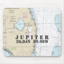 Nautical South Florida Latitude Longitude Mouse Pad