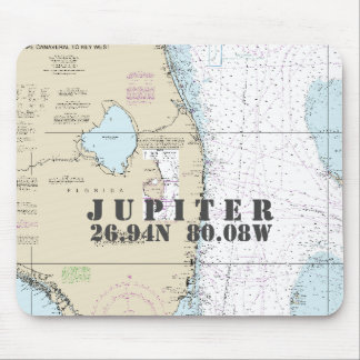Nautical South Florida Latitude Longitude Mouse Pad