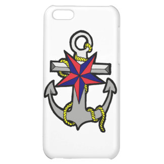 Nautical Star and Anchor iPhone 5C Cases
