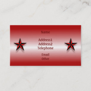 Nautical star business cards templates zazzle nautical star and anchor red business profile card reheart Gallery
