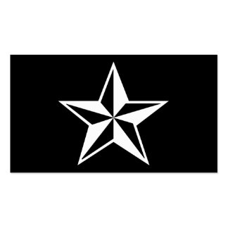 nautical star business card template