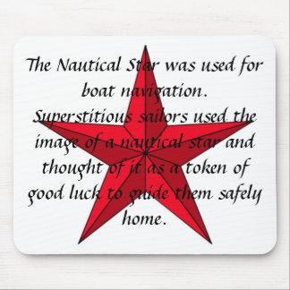 Nautical Star Mousepad w/dark text