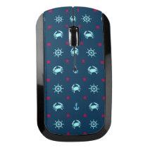 Nautical Star Pattern Wireless Mouse