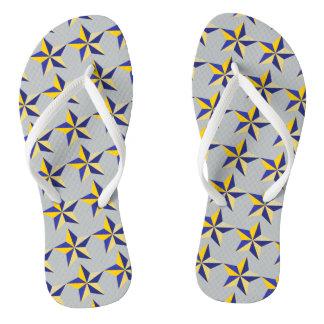 Nautical Star Print Flip Flops