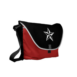 nautical star (red) courier bag
