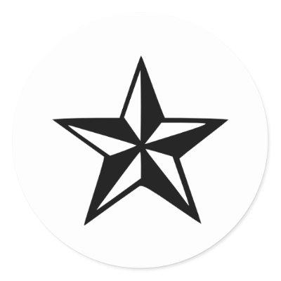 Nautical Star Round Stickers by Thinkdifferent