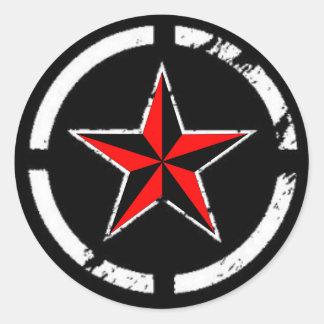 nautical star round stickers
