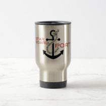 Nautical Starboard Port Anchor Travel Mug
