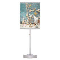 Nautical Starfish and Fisherman Net Desk Lamp