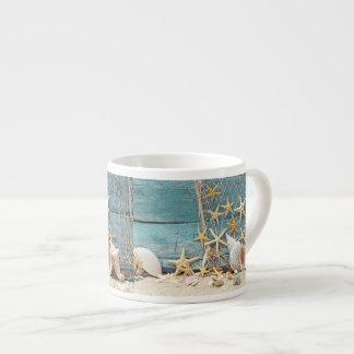 Nautical Starfish and Fisherman Net Espresso Cup