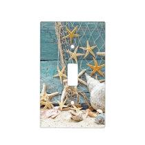 Nautical Starfish and Fisherman Net Light Switch Cover