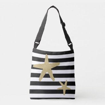 Beach Themed Nautical Starfish Crossbody Bag