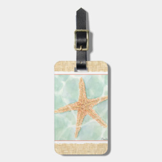 Nautical Starfish in Water Bag Tag