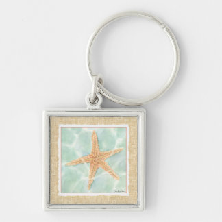 Nautical Starfish in Water Keychain