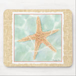 "Nautical Starfish in Water Mouse Pad<br><div class=""desc"">This Chariklia Zarris painting will make you feel a world of difference every time you look at it. You can image yourself at the beach hunting for starfish or playing in the sand. Zarris&#39;s image is perfect for those who love sea life and want to take it everywhere they go....</div>"