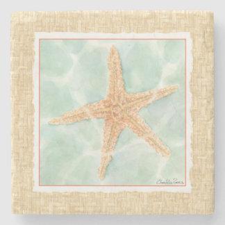 Nautical Starfish in Water Stone Coaster