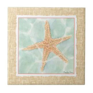 Nautical Starfish in Water Tile
