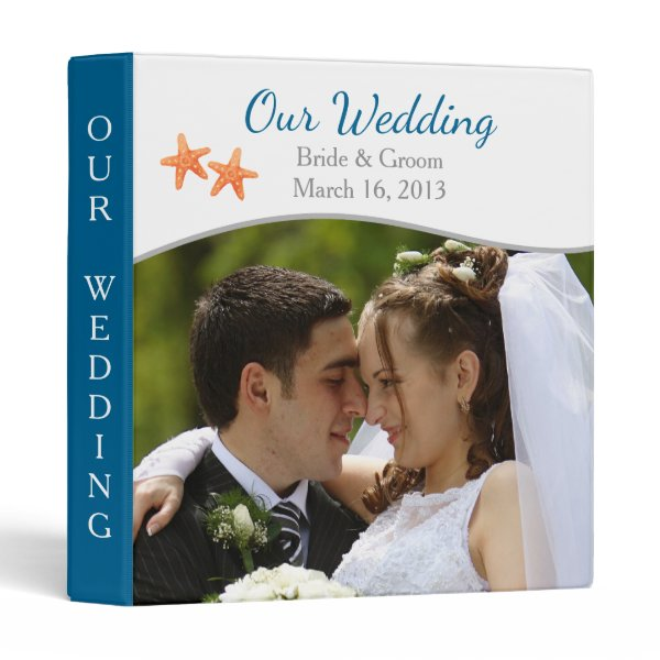 Nautical Starfish Photo Wedding Binder
