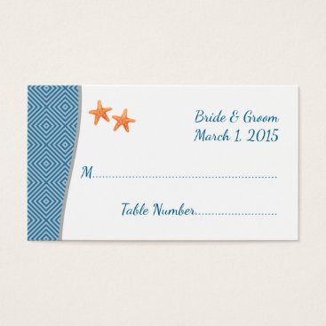 Beach Themed Nautical Starfish Place Cards